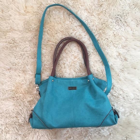 c1bd343234 Jimmy Choo Handbags - Teal Brown Jimmy Choo bag purse